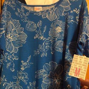 NWT M Lularoe Irma - Blue and White Floral